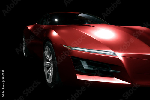 red abstract sports car
