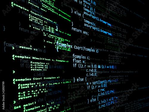 Fotografía  programa con código digital