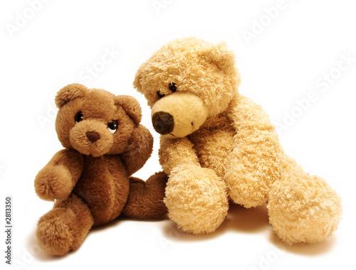 Fotografie, Obraz  teddy bears friends