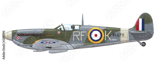 supermarine spitfire mk. vb Tablou Canvas