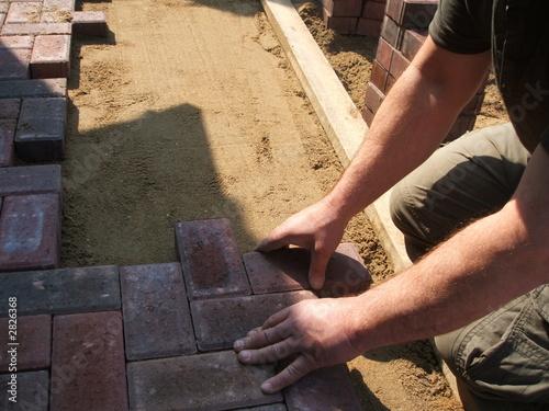 Obraz na plátně brick paver working