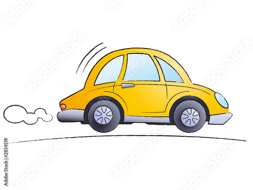 Tuinposter Cartoon cars cartoon car