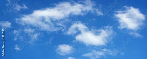 Aluminium Prints Heaven beautiful summer clouds on blue sky 8