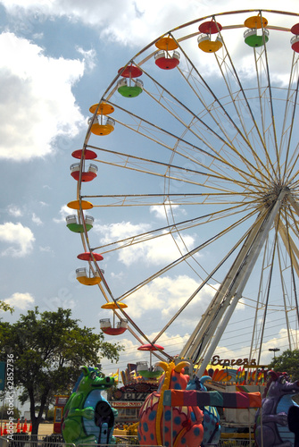 Poster Attraction parc ferris wheel
