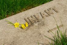 An Infant's Memorial Grave Marker At Historic Spring Grove Cemet
