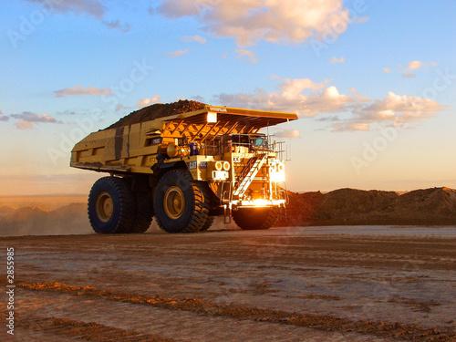Fototapeta mining truck carting coal