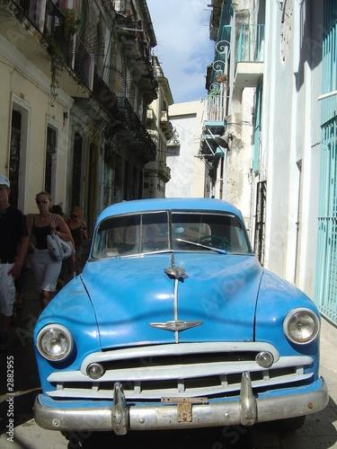 Deurstickers Cubaanse oldtimers vintage car, cuba