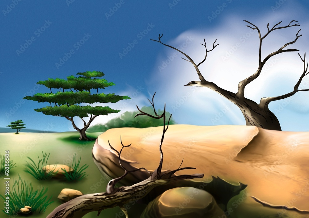 Foto-Lamellen (Lamellen ohne Schiene) - african bush