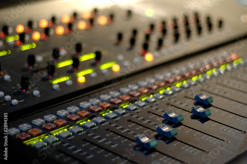 Fototapeta plan large console mixage son