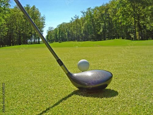Fotografie, Obraz  golf le départ