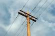 Leinwandbild Motiv power lines