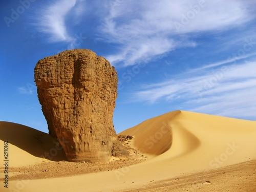 Poster Algerije dune et rocher