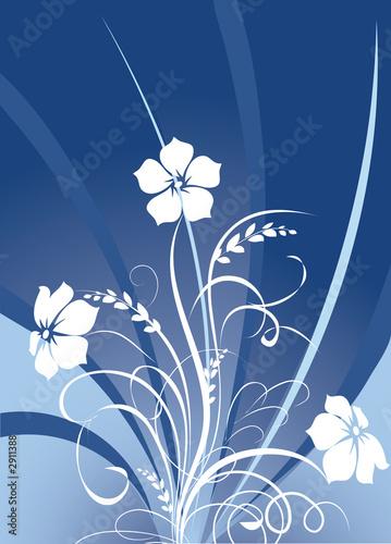 einzelne bedruckte Lamellen - floral background (von japonka)