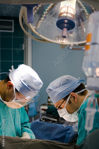 Fotografía surgeons at the time of operation