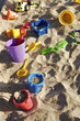canvas print picture - sandbox full of toys