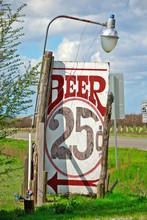 Twent Five Cent Beer!