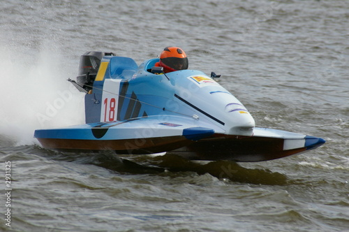 Poster Nautique motorise powerboat