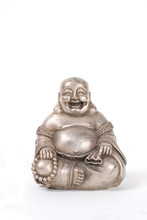 Silver Fat Happy Buddha Sitting