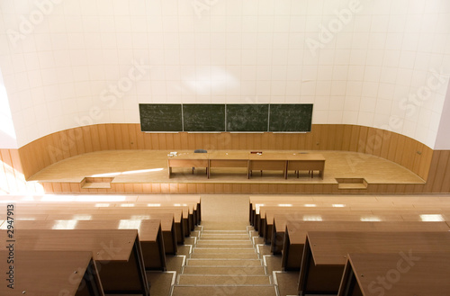 Photographie big empty lecture hall