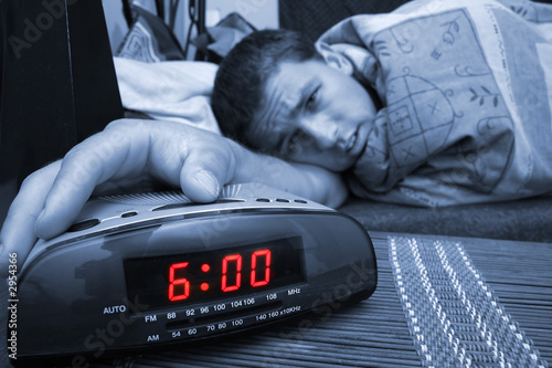 Tablou Canvas alarm clock guy