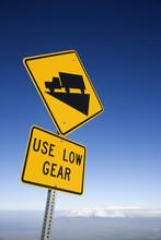 Steep Grade Truck Sign, Maui, ...