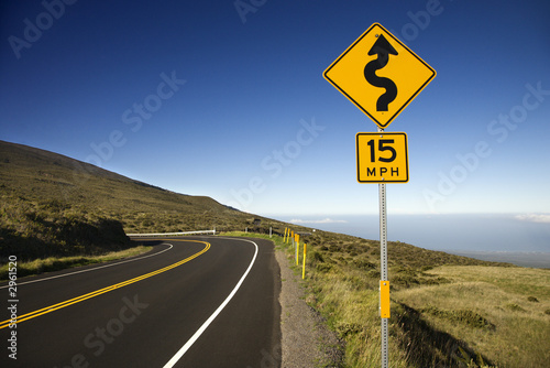 Fotomural  Road in Haleakala National Park, Maui, Hawaii.