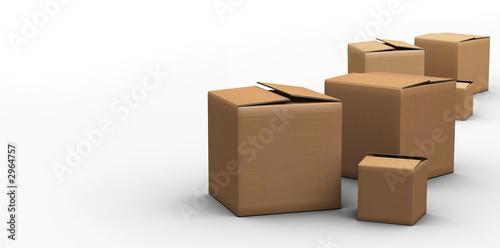 boites cartons Fototapete
