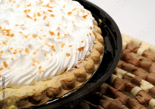 Obraz na plátne coconut cream pie