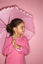 Female Girl With Umbrella.
