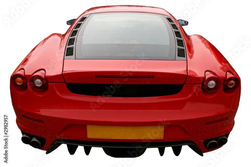 Foto-Doppelrollo - back of red supercar (von Christopher Nolan)
