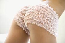 Woman In Pink Underwear.