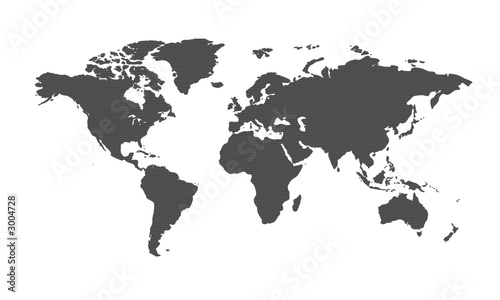 In de dag Wereldkaart weltkarte8