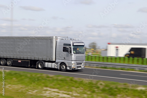 Deurstickers Oude auto s truck with freight