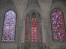 Stained Glass Window In The Ca...