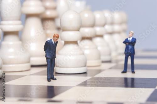 Fotografie, Obraz  business figurine and chess