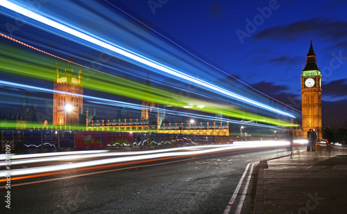 Foto op Canvas Londen traffic through london