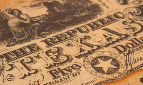 Foto op Aluminium Texas republic of texas currency
