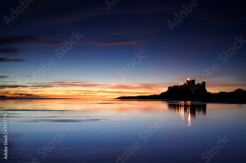 Foto Rollo Basic - bamburgh, castle,