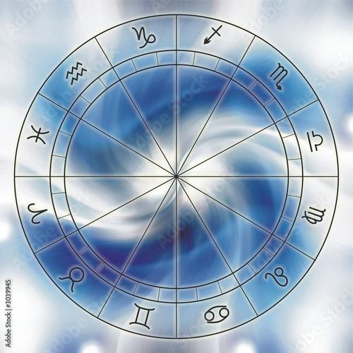 einzelne bedruckte Lamellen - zodiac chart (von Koriolis)