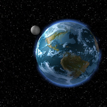 The Earth And The Moon From Space