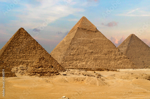 Photo Stands Egypt the great pyramids of giza