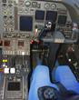 cockpit in modern jet