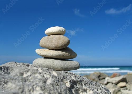 Photo sur Plexiglas Zen pierres a sable beach zen