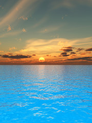 Naklejka 3D deep_sunset2