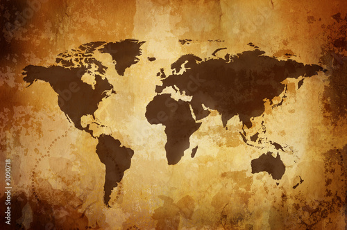 Papiers peints Amérique du Sud vintage map
