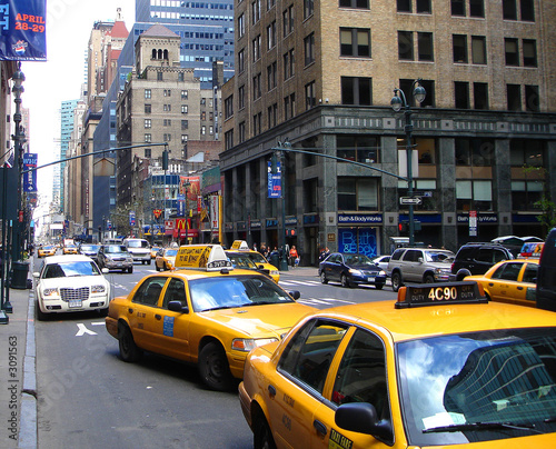 Poster New York TAXI taxis in Manhattan