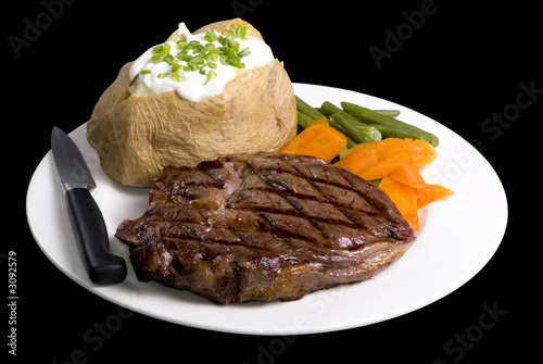 Staande foto Steakhouse ribeye steak