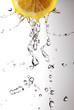 Leinwandbild Motiv lemon juice drops