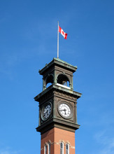 Canadian Flag On Clocktower