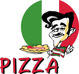 Panel Szklany Do pizzerii pizza 1